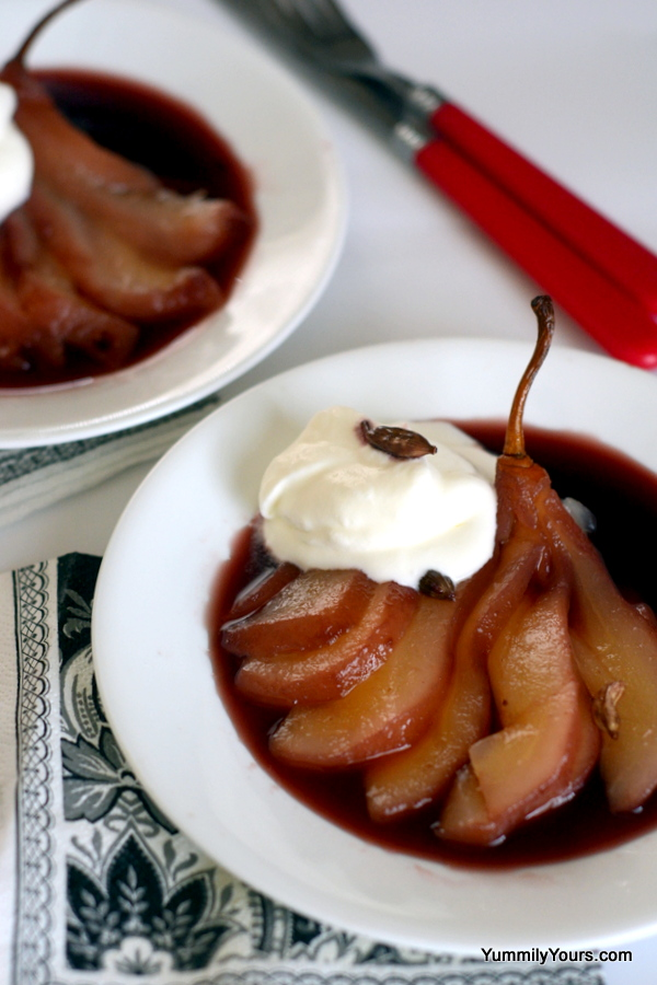 POACHED PEARS – A DESSERT FOR WEIGHT- WATCHERS AND DIABETICS