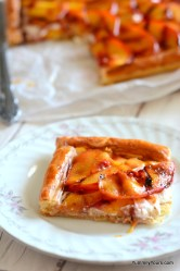 Grilled Peach Tart