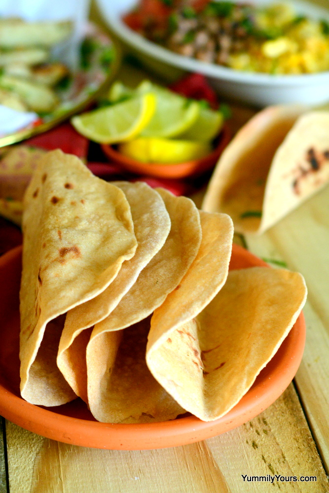 Whole wheat Phulka Tacos