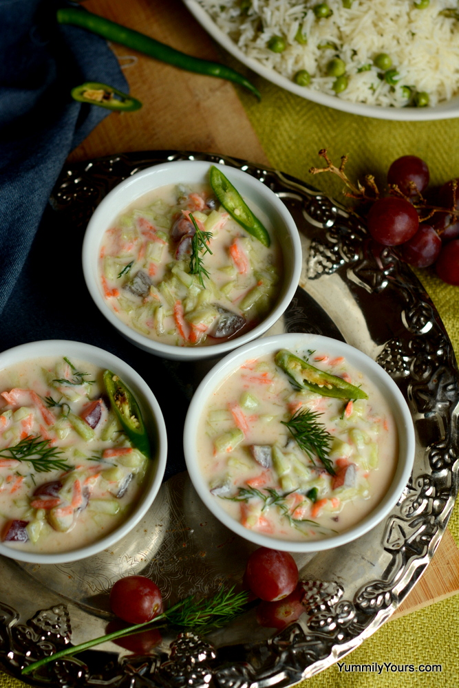 Grape raita