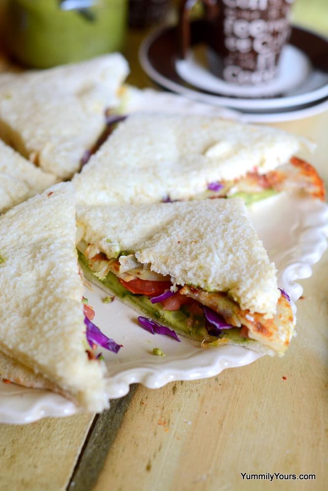 BOMBAY SANDWICH | MOM'S CHUTNEY SANDWICH