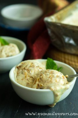 Naturals Ice cream recipe with anjeer bits (figs)