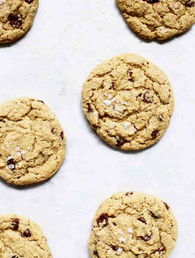 Gluten Free chocolate chip cookie recipe made with oat flour copy