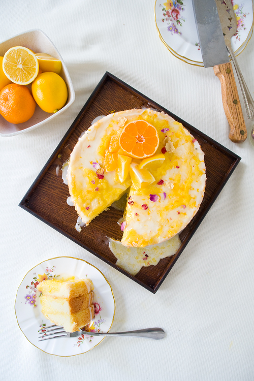 Olive Oil Chiffon with Meyer Lemon Curd