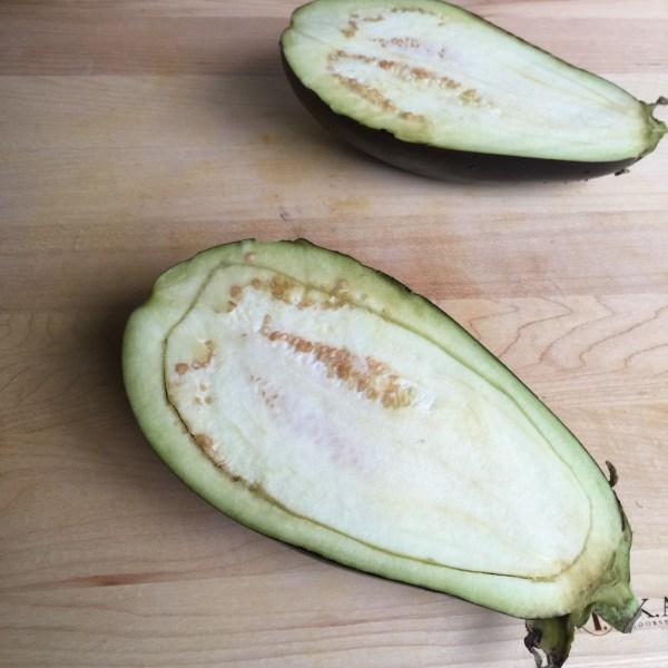 eggplant begin sliced
