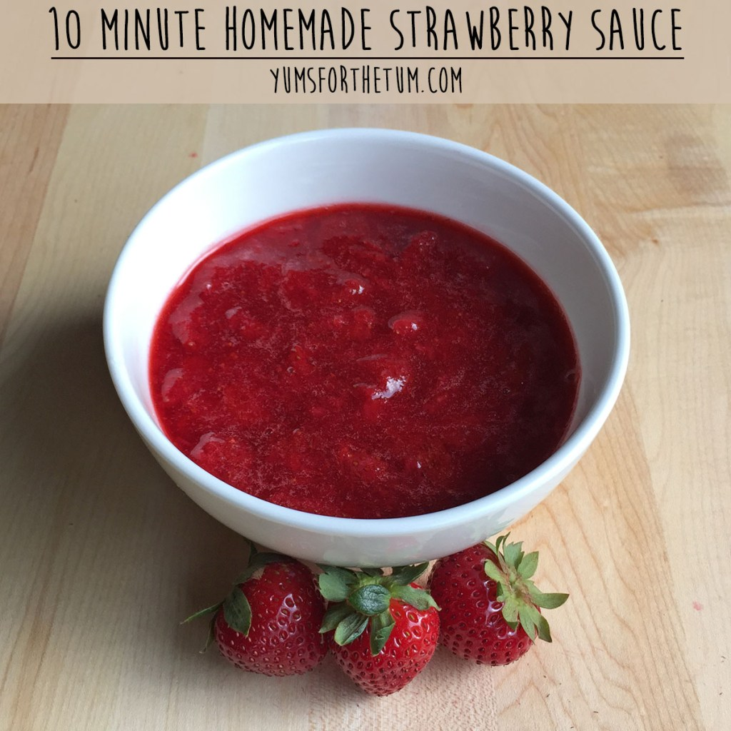 10 Minute Homemade Strawberry Sauce
