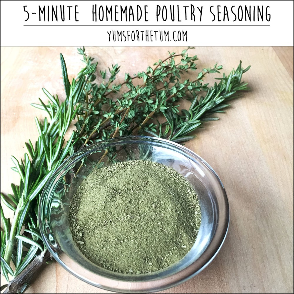 5-Minute Homemade Poultry Seasoning