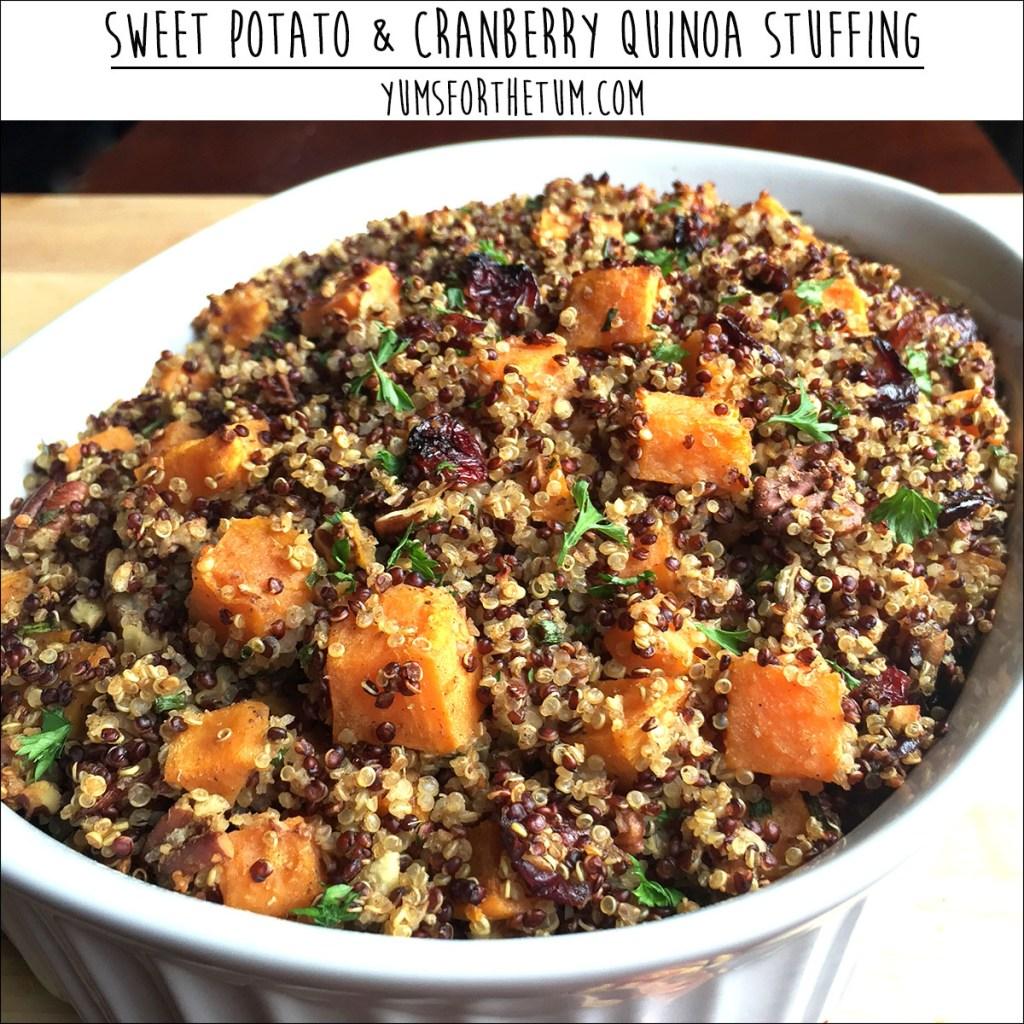 Sweet Potato & Cranberry Quinoa Stuffing