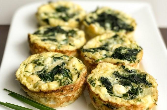 Spinach Feta Omelette Muffins