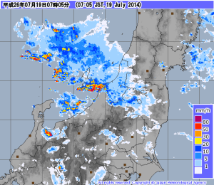 2014.7.19 天気図