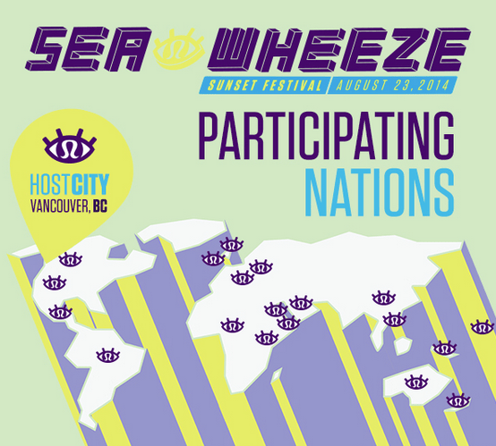 Where people come from to run to the SeaWheeze [Infographic]