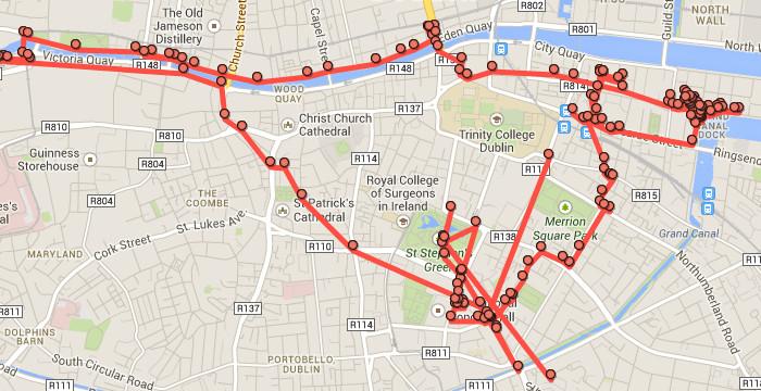Almost 23,000 steps around Dublin