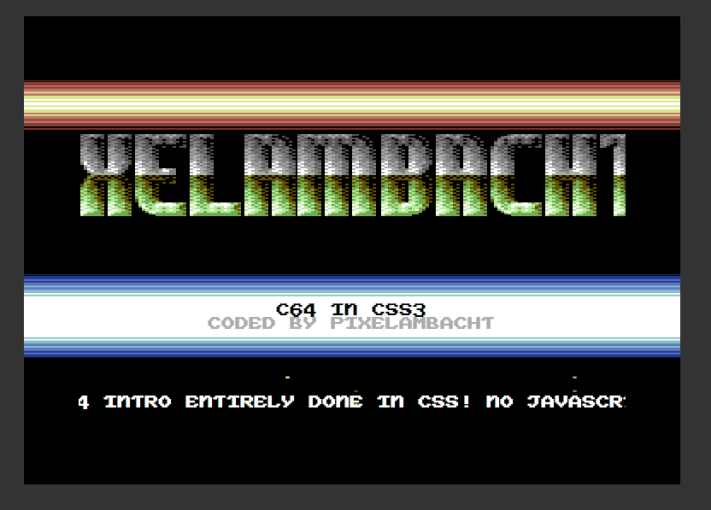A C64 intro in CSS