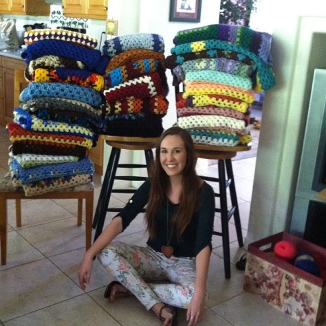 Blankets for the Egyam Orphanage in Ghana, West Africa being delivered by Spring 2014 Semester at Sea Voyage via ZaagiTravel.com
