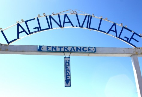 Entrance to the Laguna Village in Laguna Beach, California via ZaagiTravel.com