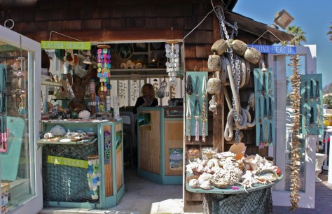 Rudi's Seashell shop in the Laguna Village in Laguna Beach, Orange County, California via ZaagiTravel.com