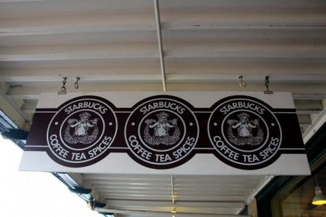Outside the Original Starbucks in Seattle, Washington, United States via ZaagiTravel.com
