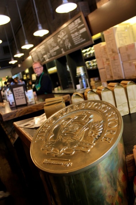 Inside the Original Starbucks in Seattle, Washington, United States via ZaagiTravel.com