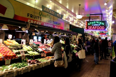 Inside of Pike Place Market in Seattle, Washington, United States via ZaagiTravel.com