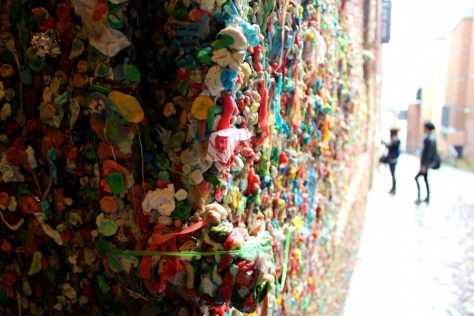 The Gum Wall outside Pike Place Market in Seattle, Washington, United States via ZaagiTravel.com