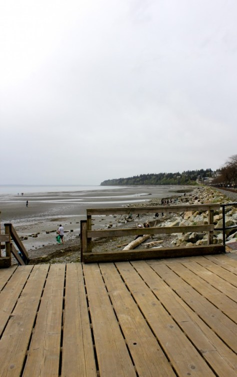 The pier at the beach in White Rock, British Columbia, Canada via ZaagiTravel.com