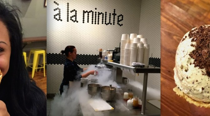 A La Minute Liquid Nitrogen Ice Cream in Claremont Packing House via ZaagiTravel.com