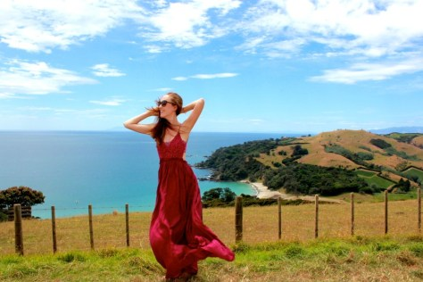 Alexa Rae on Waiheke Island in New Zealand via ZaagiTravel.com