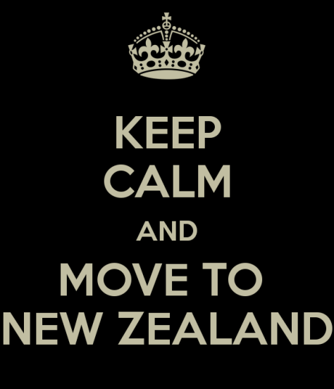 Keep Calm And Move To New Zealand via ZaagiTravel.com