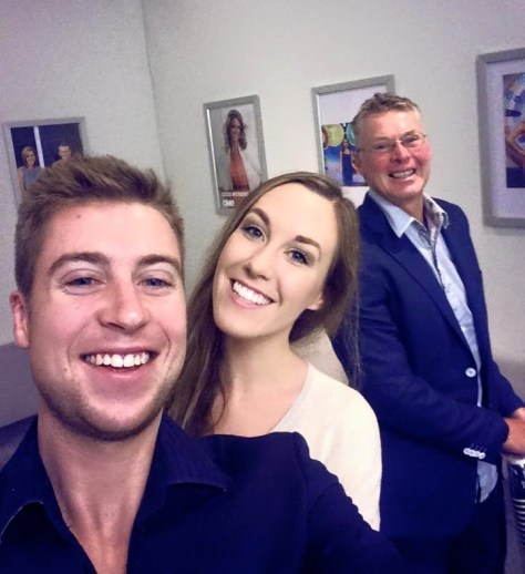James, Alexa and Brett in the green room at TV One NZ via ZaagiTravel.com