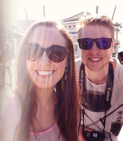 James and Alexa in Huntington Beach via ZaagiTravel.com