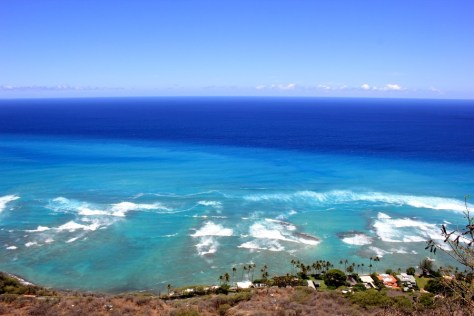 Views from Diamond Head in Honolulu, Oahu, Hawaii via ZaagiTravel.com