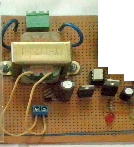 Power Supply Portion - AC Supply to 5V DC with Zero Crossing Detection