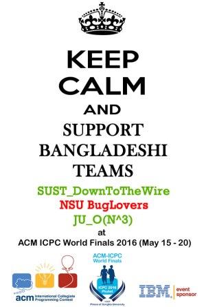 worldfinals2016 bangladeshi teams