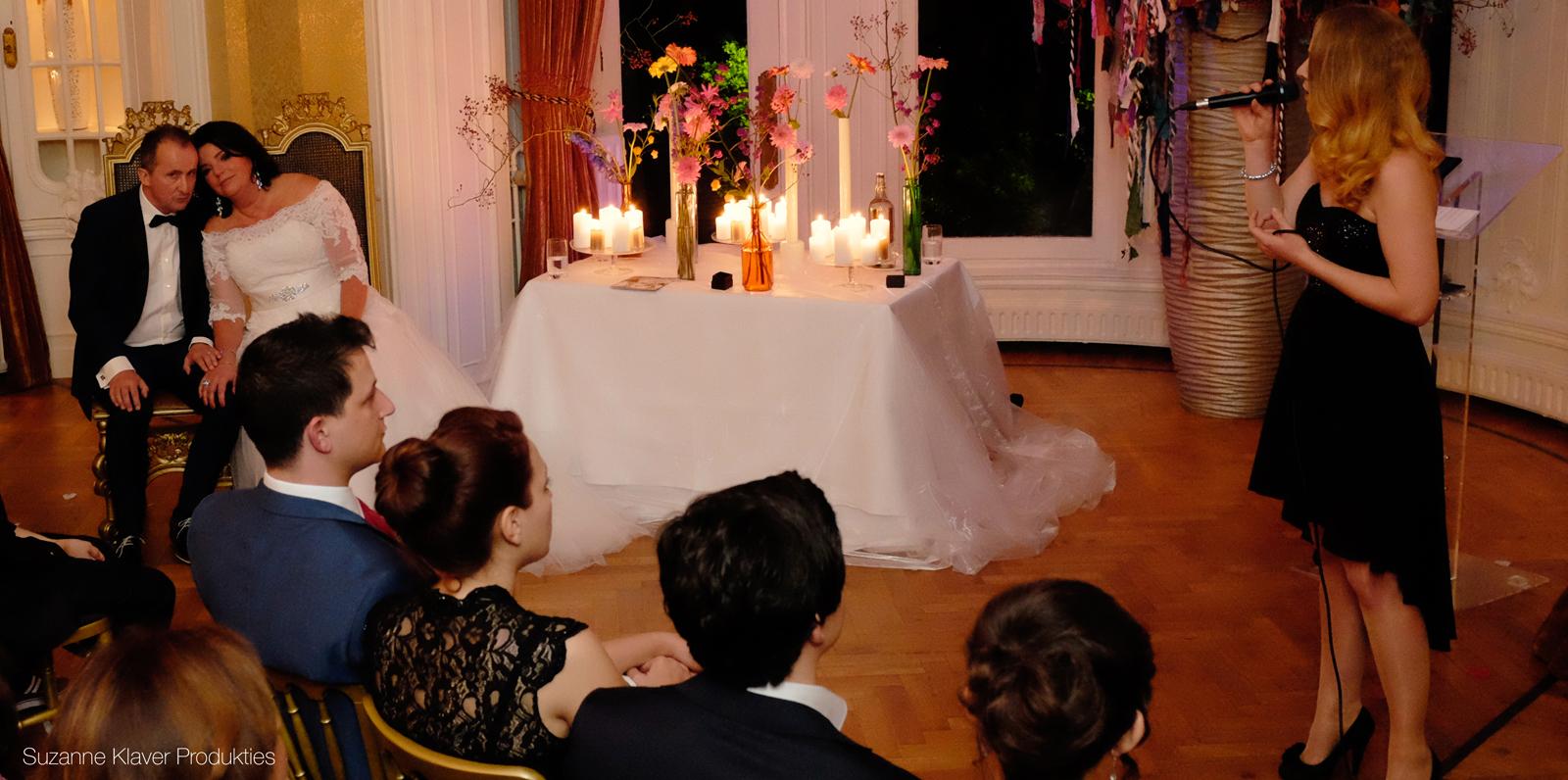 Akoestisch duo Pure tijdens een huwelijksceremonie