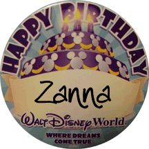 The birthday button is your key to special Disney attention