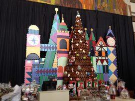 Contemporary Mary Blair gingerbread tree