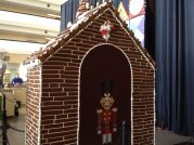 Contemporary gingerbread guard shack