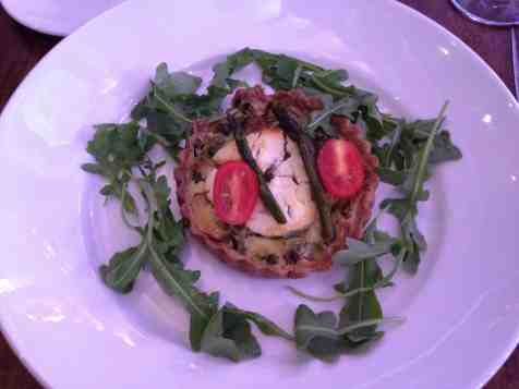 Tart Art goat cheese tart