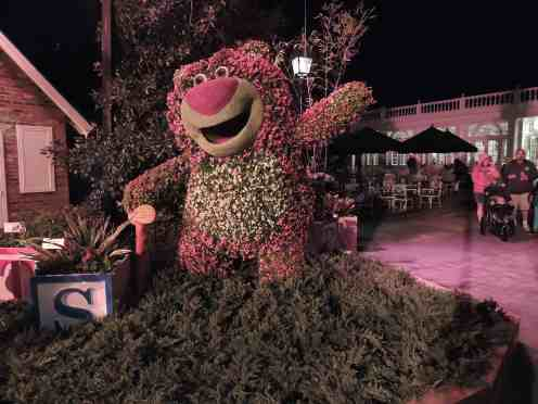 Lotso topiary at night