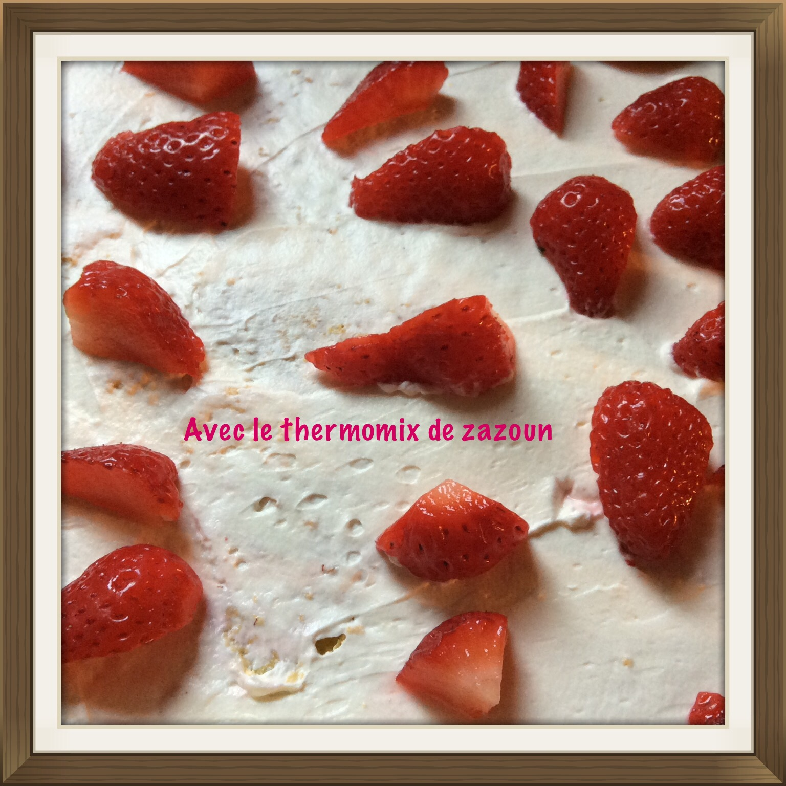 g 226 teau roul 233 aux fraises et mascarpone thermomix avec le thermomix de zazoun