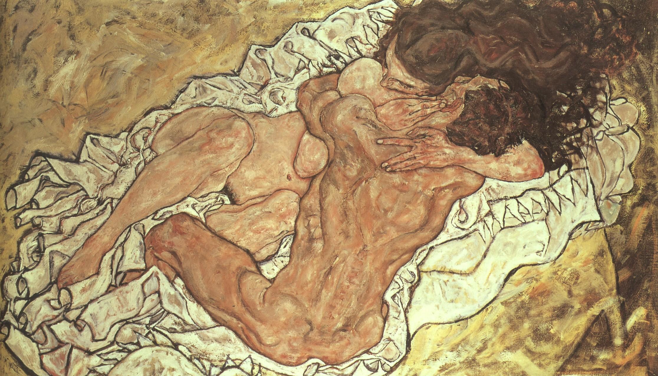 Egon Schiele, Die Umarmung - 1917
