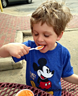 Wordless Wednesday: Trip to the Ice Cream Store #wordlesswednesday @zealousmom.com
