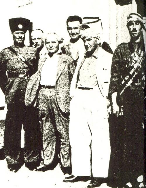 פגישת בן גוריון עם מנהיגים ערבים. גם הוא הגיע למסקנה שאין סיכוי להגיע להסכם