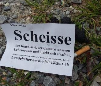 gesichtet #133: «Hundehalter an die Leine» – Basels anonyme Anti-Scheisse-Aktivisten