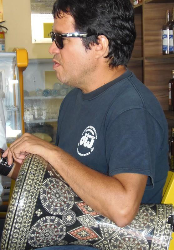 O percussionista Luiz Claudio. Foto: Rivanio Almeida Santos/ Chorografia do Maranhão