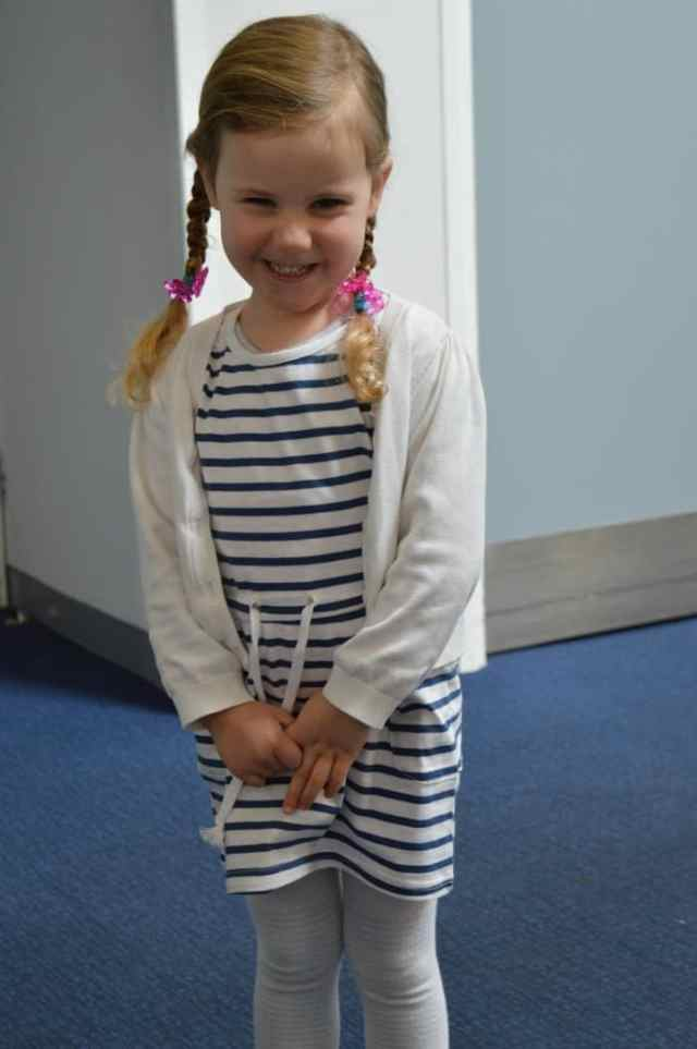 child modelling dress