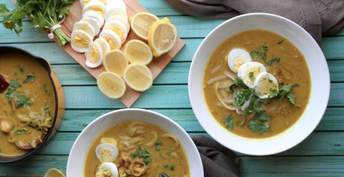 Burmese Chicken Noodle Soup