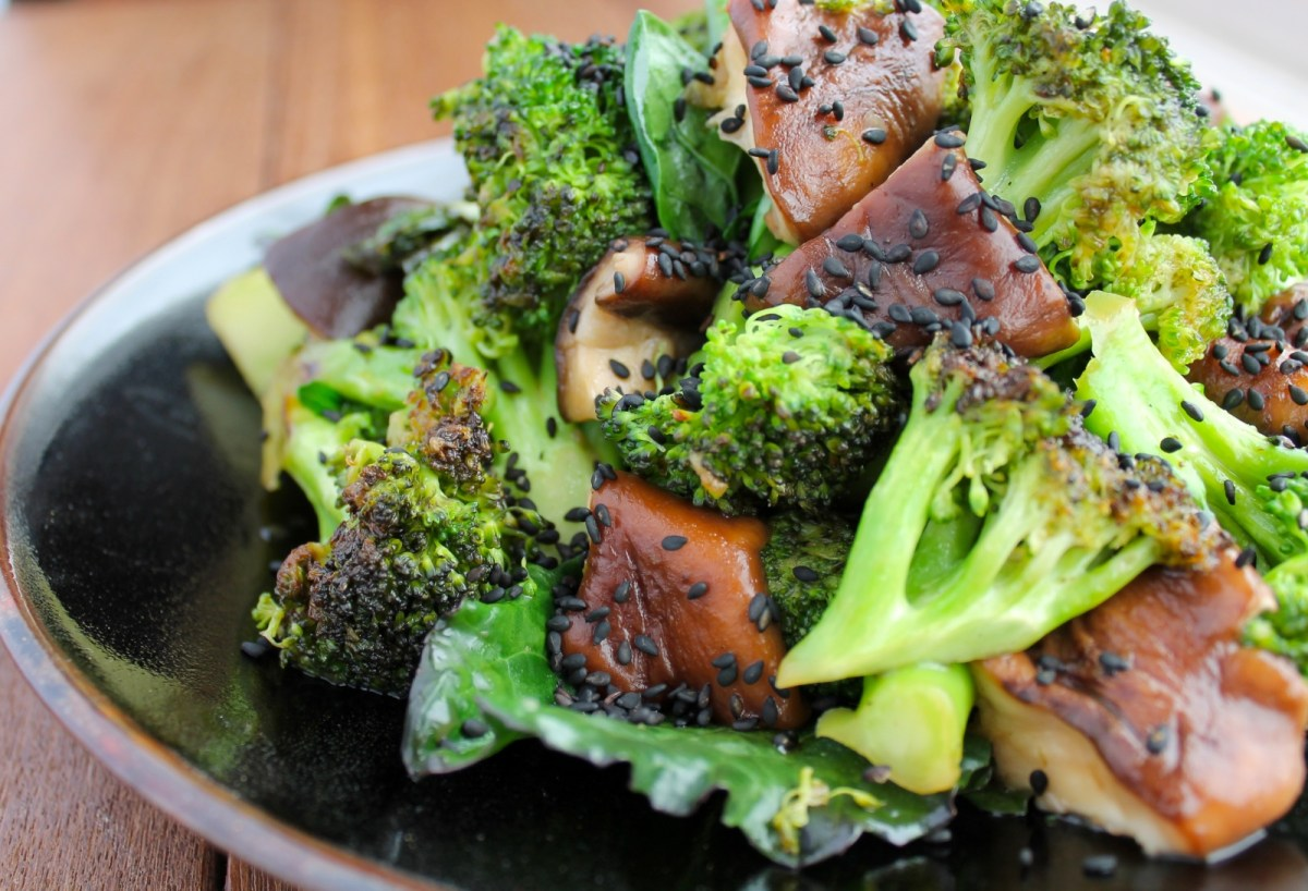 The Zenbelly Cookbook Sneak Peek: Sesame Shiitake Broccoli