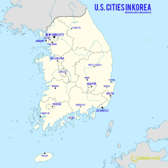 What if U.S. Cities were in South Korea?