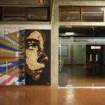 Live art: Eduardo Bessa painted a mural at Escola Secundária de Amares